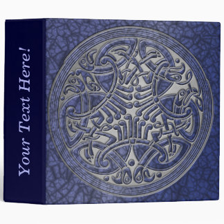 Celtic Knot Circle of Blue Birds & Silver-Binder Vinyl Binders
