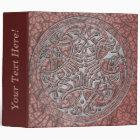 Celtic Knot Circle of Pink Birds & Silver-Binder Binder