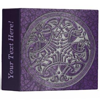 Celtic Knot Circle of Purple Birds & Silver-Binder Binder