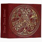 Celtic Knot Circle of Red Birds & Gold-Binder Binder