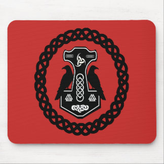 Celtic Knot Circle Thor's Hammer Mouse Pad