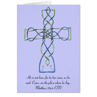 Celtic Knot Cross Easter Card