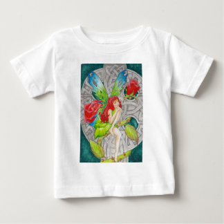 celtic knot cross red rose fairy baby T-Shirt