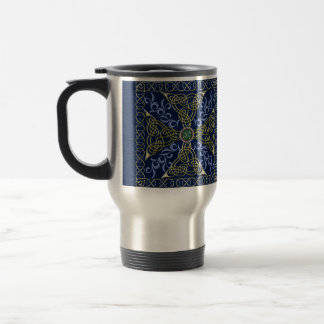 Celtic Knot Cross Travel Mug