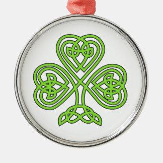 Celtic Knot Cross Tree Metal Ornament