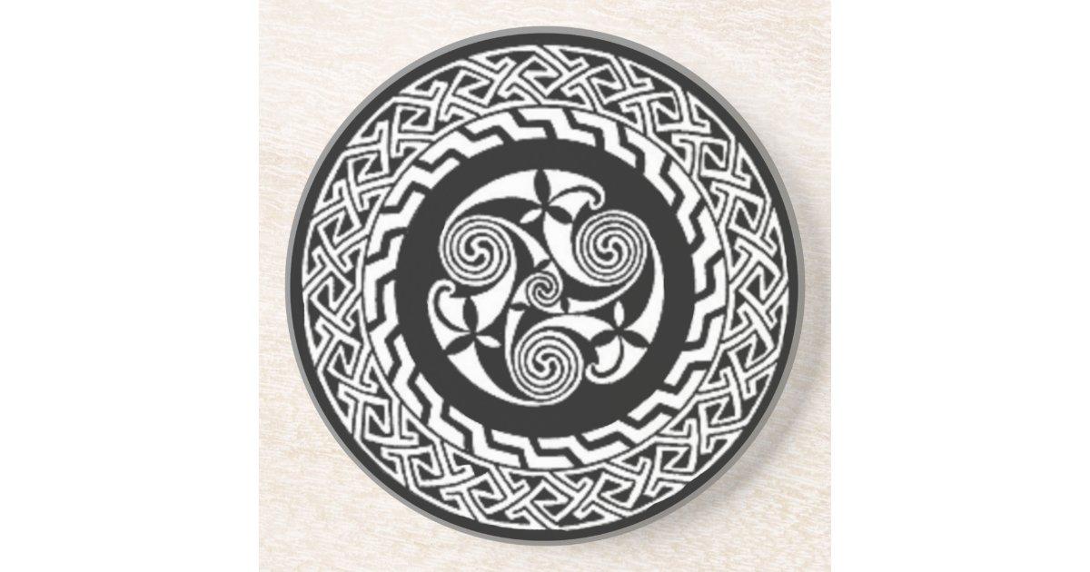 Celtic Knot Design Beverage Coaster Zazzle