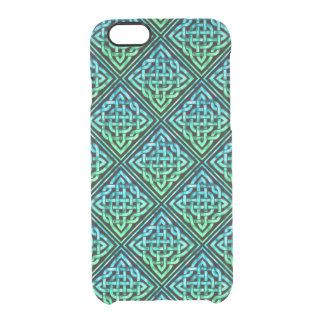 Celtic Knot - Diamond Blue Green Clear iPhone 6/6S Case
