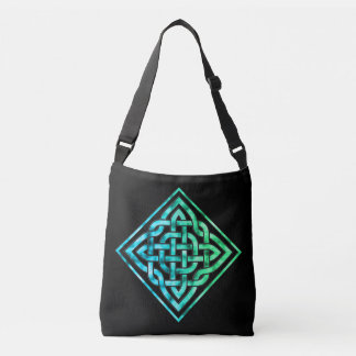 Celtic Knot - Diamond Blue Green Cross Body Bag
