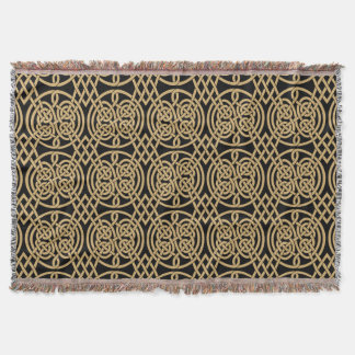"Celtic Knot ""Durrow"" Pattern Throw Blanket"