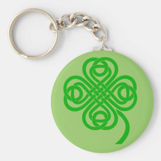 Celtic Knot four leaf clover Keychain