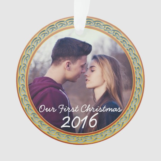 """Celtic Knot Frame & """"Our First Christmas"""""""