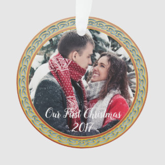 """Celtic Knot Frame & """"Our First Christmas"""" Ornament"""