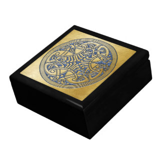 Celtic Knot Gold Birds & Light Blue -Gift Box Gift Box