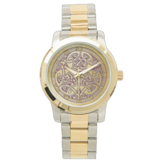 Celtic Knot Gold Birds & Pink - Watch
