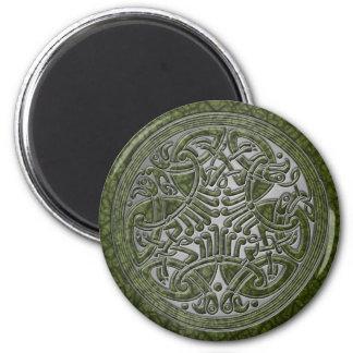 Celtic Knot Green Birds & Silver-Fridge Magnet