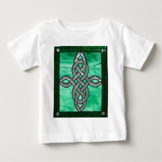 celtic knot green silver stained Glass Baby T-Shirt
