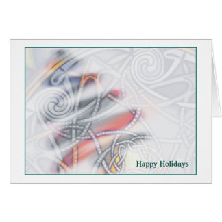 Celtic Knot Happy Holidays Card