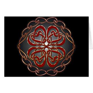 Celtic knot Hearts Card