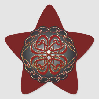 Celtic knot Hearts Star Sticker