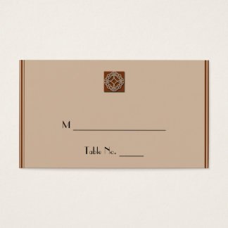 Celtic Knot in Cream and Rust Wedding Place Cards