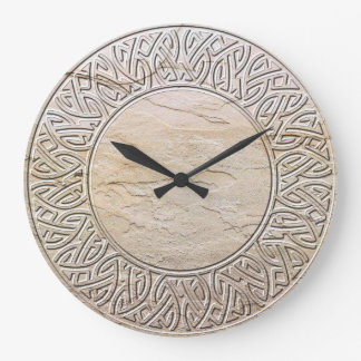 Celtic Knot in stone Large Clock