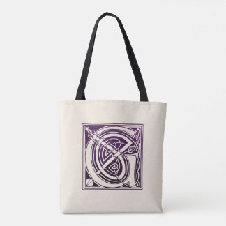 Celtic Knot Initial - G - Purple Tote Bag