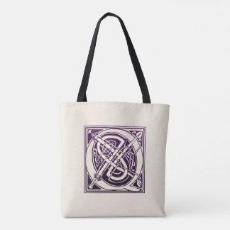 Celtic Knot Initial - Q - Purple Tote Bag