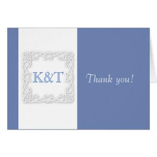 Celtic Knot Initials - Cornflower blue Card