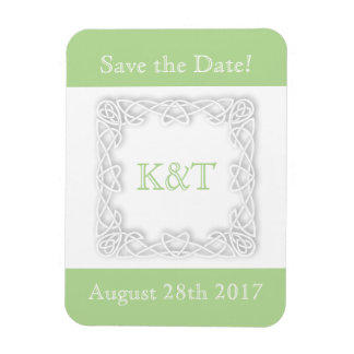 Celtic Knot Initials - Customize Background color Magnet