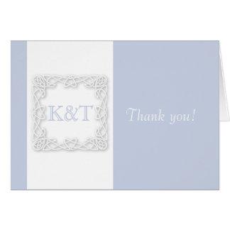 Celtic Knot Initials - Light Blue Card