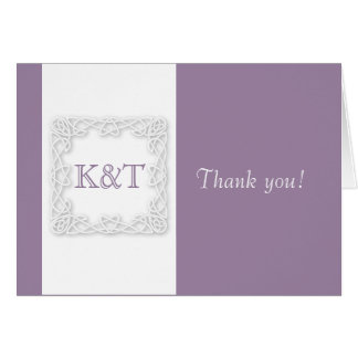 Celtic Knot Initials - Lilac Card