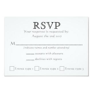 Celtic Knot Initials - RSVP - black & white Card