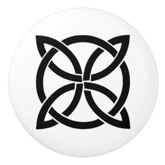 celtic knot ireland ancient symbol pagan irish ceramic knob