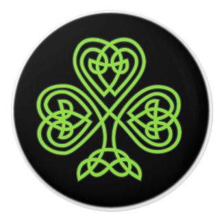 Celtic Knot Irish Change Color Ceramic Knob