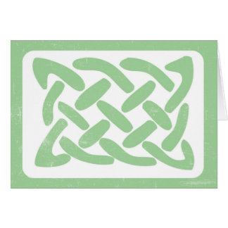 Celtic Knot Irish thank you note card 3991