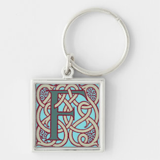 Celtic Knot letter initial monogram F Keychain