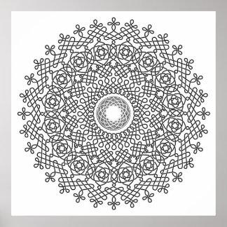 Celtic Knot Mandala 1 Poster
