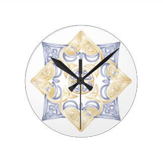 Celtic Knot Mandala Wall Clocks