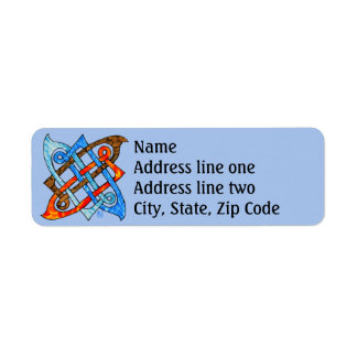 Celtic Knot of the Elements - Earth Air Fire Water Return Address Label