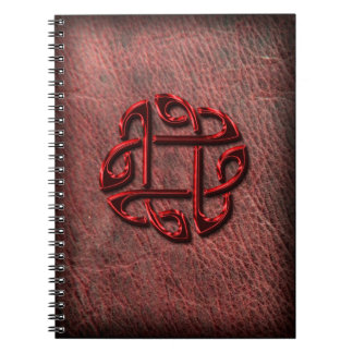 Celtic knot on genuine leather notebooks