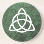 Celtic Knot over Green Granite Coaster