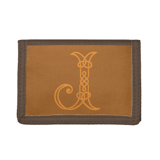 Celtic Knot Personalized Initial J Trifold Wallets