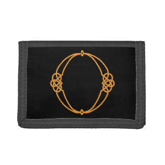 Celtic Knot Personalized Initial O Tri-fold Wallet