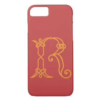 Celtic Knot Personalized Initial R iPhone 8/7 Case