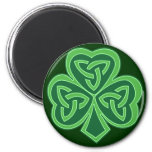 Celtic Knot Shamrock 2 Inch Round Magnet
