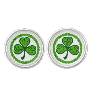 Celtic Knot Shamrock Cufflinks