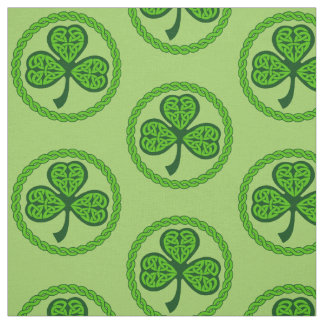 Celtic Knot Shamrock Green Fabric
