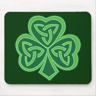 Celtic Knot Shamrock Mouse Pad