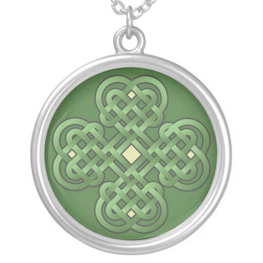 Celtic Knot Shamrock Necklace