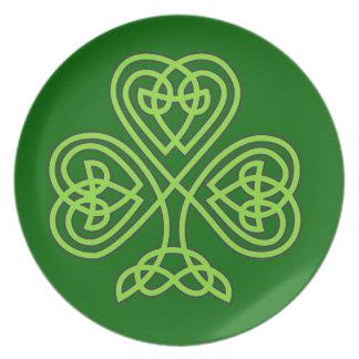 celtic knot shamrock plates